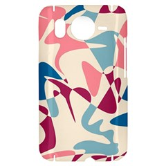 Blue, pink and purple pattern HTC Desire HD Hardshell Case
