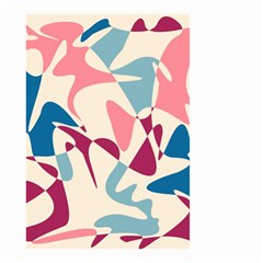 Blue, pink and purple pattern Small Garden Flag (Two Sides)