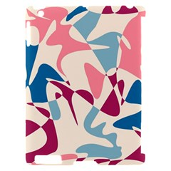 Blue, pink and purple pattern Apple iPad 2 Hardshell Case (Compatible with Smart Cover)