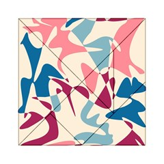 Blue, pink and purple pattern Acrylic Tangram Puzzle (6  x 6 )
