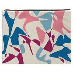 Blue, pink and purple pattern Cosmetic Bag (XXXL)
