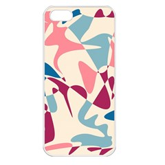 Blue, pink and purple pattern Apple iPhone 5 Seamless Case (White)