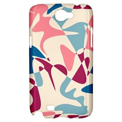 Blue, pink and purple pattern Samsung Galaxy Note 2 Hardshell Case