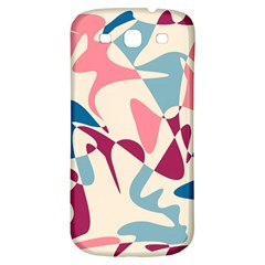 Blue, pink and purple pattern Samsung Galaxy S3 S III Classic Hardshell Back Case