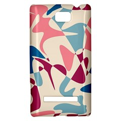 Blue, pink and purple pattern HTC 8S Hardshell Case