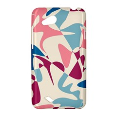 Blue, pink and purple pattern HTC Desire VC (T328D) Hardshell Case