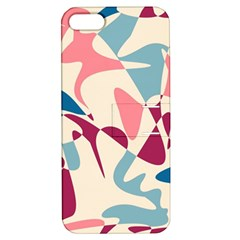 Blue, pink and purple pattern Apple iPhone 5 Hardshell Case with Stand