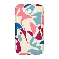 Blue, pink and purple pattern Samsung Galaxy Grand DUOS I9082 Hardshell Case