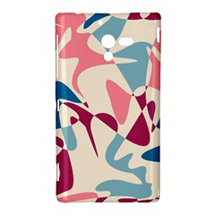 Blue, pink and purple pattern Sony Xperia ZL (L35H)