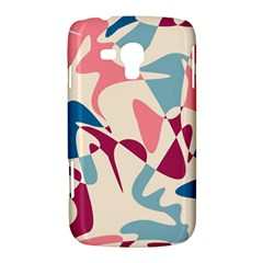 Blue, pink and purple pattern Samsung Galaxy Duos I8262 Hardshell Case