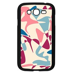 Blue, pink and purple pattern Samsung Galaxy Grand DUOS I9082 Case (Black)