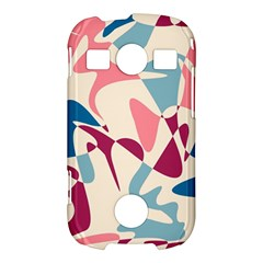 Blue, pink and purple pattern Samsung Galaxy S7710 Xcover 2 Hardshell Case