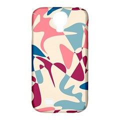 Blue, pink and purple pattern Samsung Galaxy S4 Classic Hardshell Case (PC+Silicone)