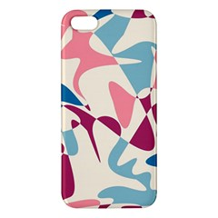 Blue, pink and purple pattern iPhone 5S/ SE Premium Hardshell Case