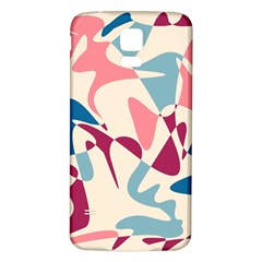 Blue, pink and purple pattern Samsung Galaxy S5 Back Case (White)