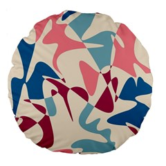 Blue, pink and purple pattern Large 18  Premium Flano Round Cushions