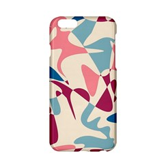 Blue, pink and purple pattern Apple iPhone 6/6S Hardshell Case