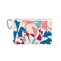 Blue, pink and purple pattern Canvas Cosmetic Bag (S)