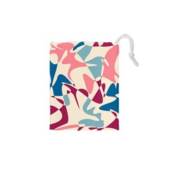 Blue, pink and purple pattern Drawstring Pouches (XS)