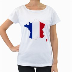 Flag Map Of France Women s Loose-Fit T-Shirt (White)