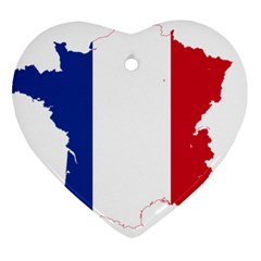 Flag Map Of France Heart Ornament (2 Sides)