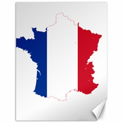 Flag Map Of France Canvas 12  x 16