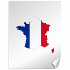 Flag Map Of France Canvas 18  x 24