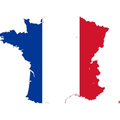 Flag Map Of France Birthday Cake 3D Greeting Card (7x5)
