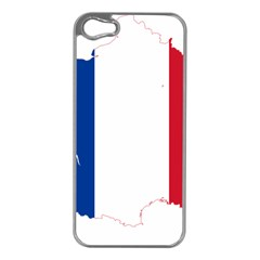 Flag Map Of France Apple iPhone 5 Case (Silver)