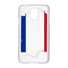 Flag Map Of France Samsung Galaxy S5 Case (White)