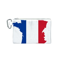 Flag Map Of France Canvas Cosmetic Bag (S)