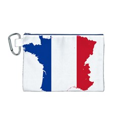 Flag Map Of France Canvas Cosmetic Bag (M)