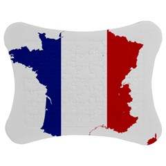 Flag Map Of France Jigsaw Puzzle Photo Stand (Bow)