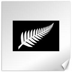 New Zealand Silver Fern Flag Canvas 20  x 20