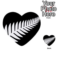 New Zealand Silver Fern Flag Multi-purpose Cards (Heart)