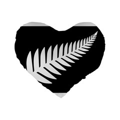 New Zealand Silver Fern Flag Standard 16  Premium Heart Shape Cushions