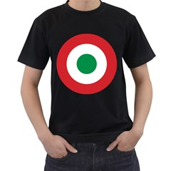 Roundel Of The Italian Air Force, 1911 1946 Men s T-Shirt (Black) (Two Sided)
