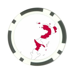 Flag Map Of Okinawa Prefecture Poker Chip Card Guards