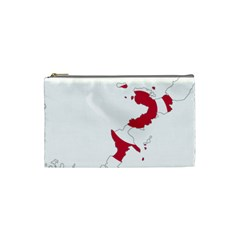 Flag Map Of Okinawa Prefecture Cosmetic Bag (Small)