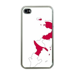 Flag Map Of Okinawa Prefecture Apple iPhone 4 Case (Clear)