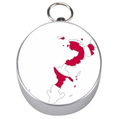 Flag Map Of Okinawa Prefecture Silver Compasses