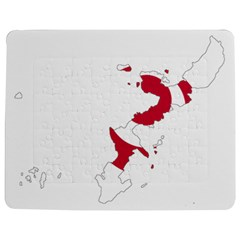 Flag Map Of Okinawa Prefecture Jigsaw Puzzle Photo Stand (Rectangular)