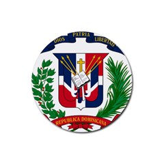 Coat Of Arms Of The Dominican Republic Rubber Coaster (Round)