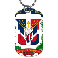 Coat Of Arms Of The Dominican Republic Dog Tag (Two Sides)
