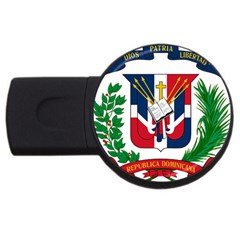 Coat Of Arms Of The Dominican Republic USB Flash Drive Round (1 GB)
