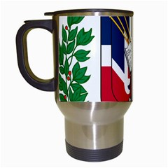 Coat Of Arms Of The Dominican Republic Travel Mugs (White)