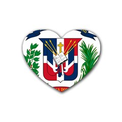 Coat Of Arms Of The Dominican Republic Heart Coaster (4 pack)