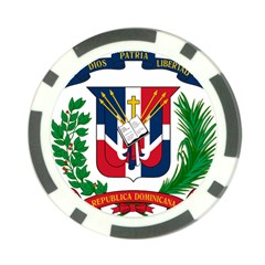 Coat Of Arms Of The Dominican Republic Poker Chip Card Guards