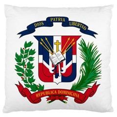 Coat Of Arms Of The Dominican Republic Large Flano Cushion Case (One Side)