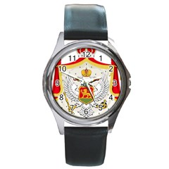 Coat Of Arms Of Kingdom Of Montenegro, 1910 1918 Round Metal Watch